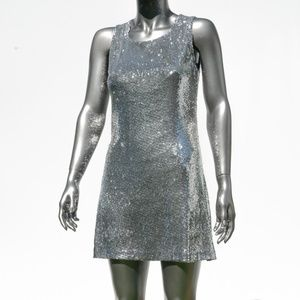 Tory Burch Silver Sequin Dress Small